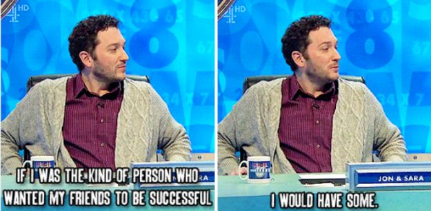 "When he came out with this relatable gem: | 19 Times Jon Richardson Was The Funniest On ""8 Out Of 10 Cats Does Countdown"""