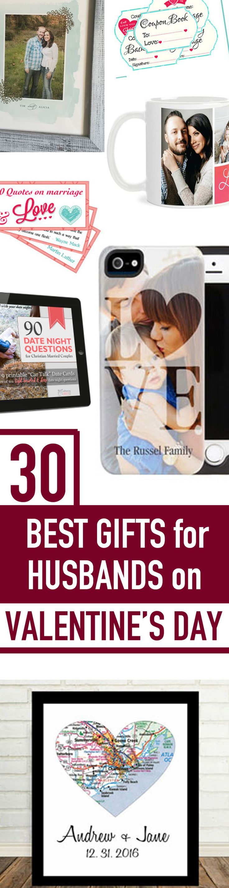 Ooooh... LOVE THESE! Great unique Valentine's Day gift ideas for husbands or boyfriends! Personal, unique and really fun Valentines gift ideas here! Plus date night ideas and love note ideas too! #valentinesdaygiftsforhim #valentinesday #giftsforhim #valentinesdayideasforhusband