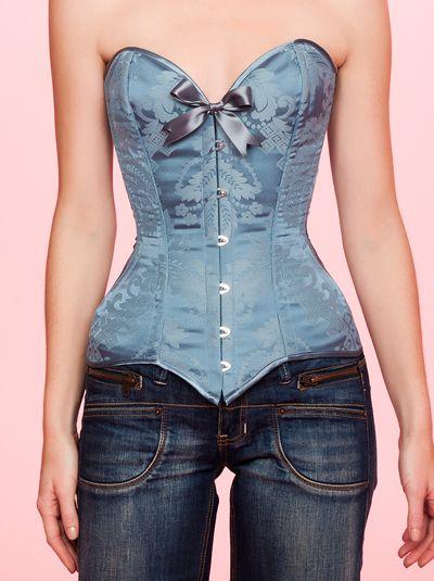LOVE THIS!! Maya Hansen Corset in Vintage Blue! <3