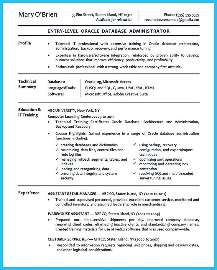 594 best Resume Samples images on Pinterest You are, Career and - linux system administrator resume
