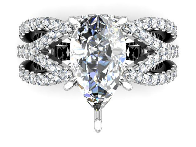 Amazing Custom pear shape diamond rings in Dallas Wholesale diamond engagement rings in our Dallas Diamonds office