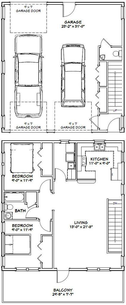 Pdf House Plans Garage Shed Garages Apartment