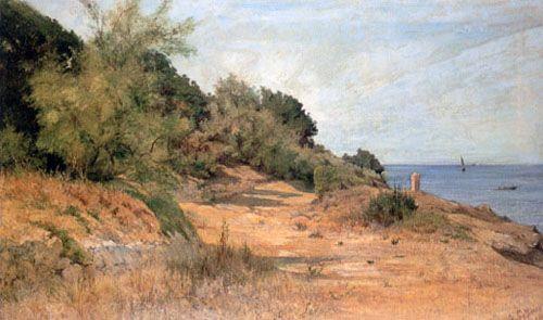 GIOVANNI FATTORI, Lungomare di Antignano - 1894 - MUSEO CIVICO GIOVANNI FATTORI-LIVORNO