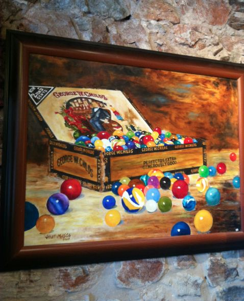 Marbles | Oil painting by Janet Mason | Llano, Texas