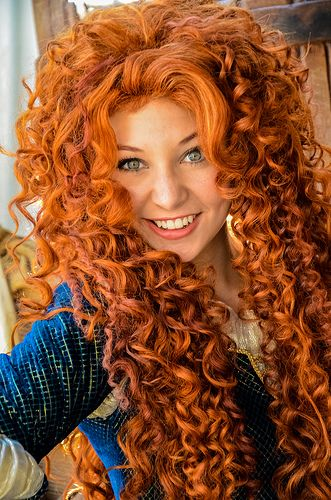 Wow<-- The girls that play Merida in the Disney Parks are always so beautiful. I think some of them are prettier than the more popular ones like Snow White and Ariel