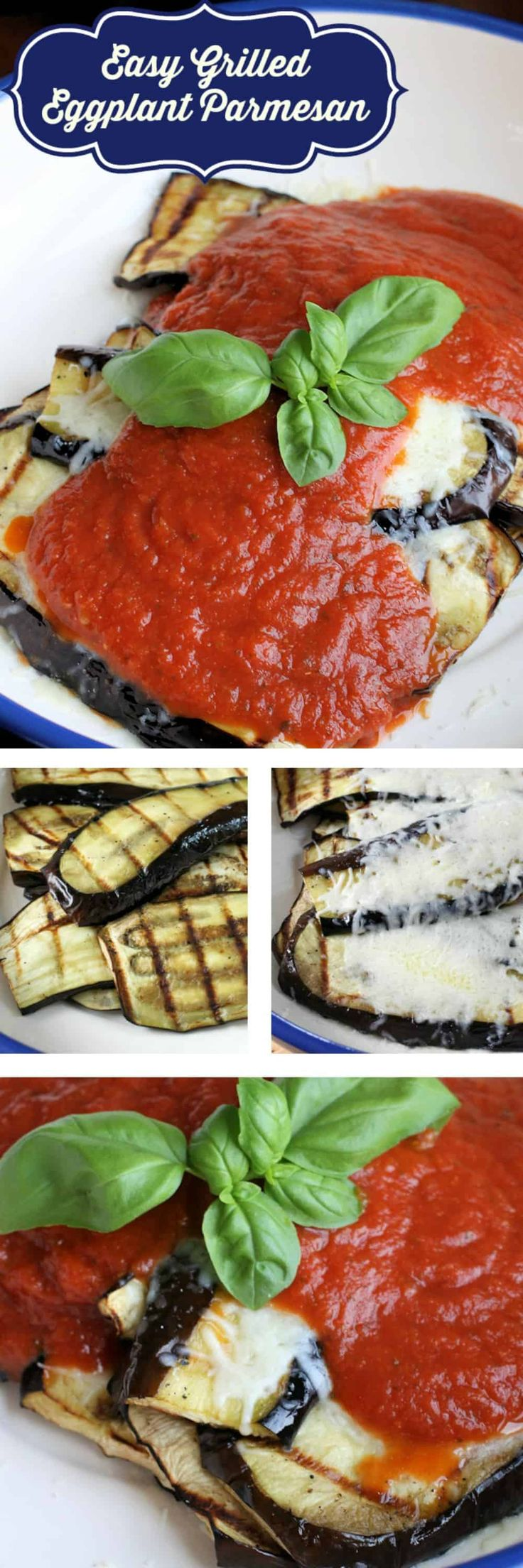 This Grilled Eggplant Parmesan is a great example of a recipe adapted for the grill with healthy results. Carbs and fat are greatly reduced in this recipes, yet flavor is not. The dish can certainly be served on it's own, but of course pairs well with pasta. It would also make a great side for grilled chicken. #lowcarb #vegetarian #eggplant