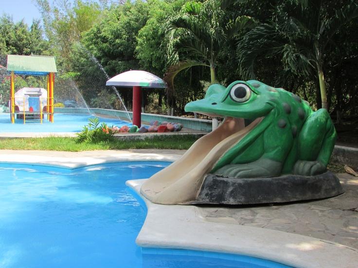 A gigant frog, El Encanto Aqua Park, Santiago de la Frontera. El Salvador. Photo by: Ana Silva