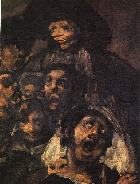 Painting by the Romantic artist, Francisco Goya who creates emotion and drama.