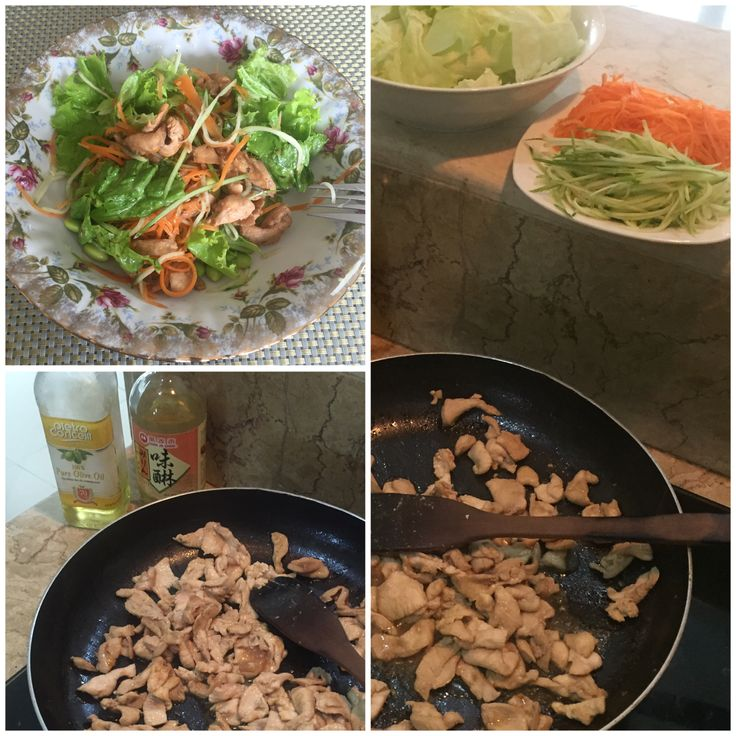 When i made salad, i made sause from mirin, kikkoman and sesame oil...