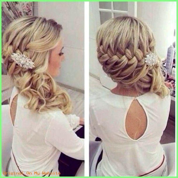 Haarschnitt Mittellang Frauen Schicke Brautfrisur Halboffen