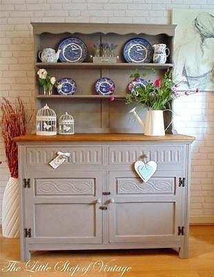 Farmhouse Oak Welsh Dresser Sideboard Cupboard Cabinet Drawers Shabby Chic ASCP
