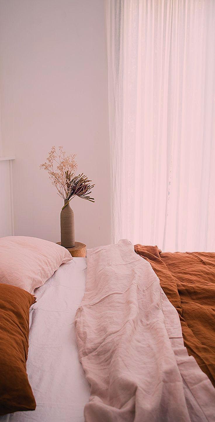 Lin Blanc Rose Poudre Et Terracotta Le Mix Deco Parfait Et