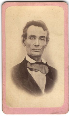 Abraham Lincoln in 1858...