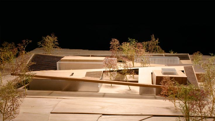 allied works architecture - Botanical Research Institute of Texas, architectural model, modelo, maquette