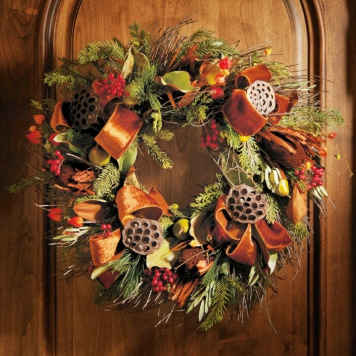 harvest spice wreath from frontgate