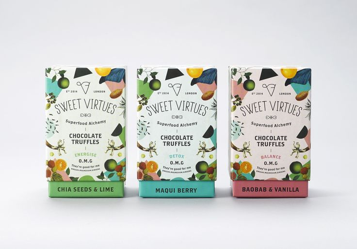 sweet virtues superfood truffles by iwant design