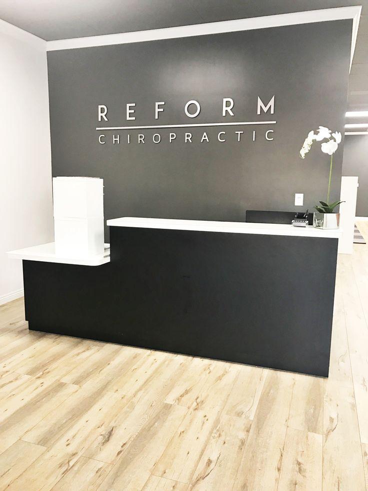 Chiropractic Front Desk Office www.reformchiropractic.com Modern Design
