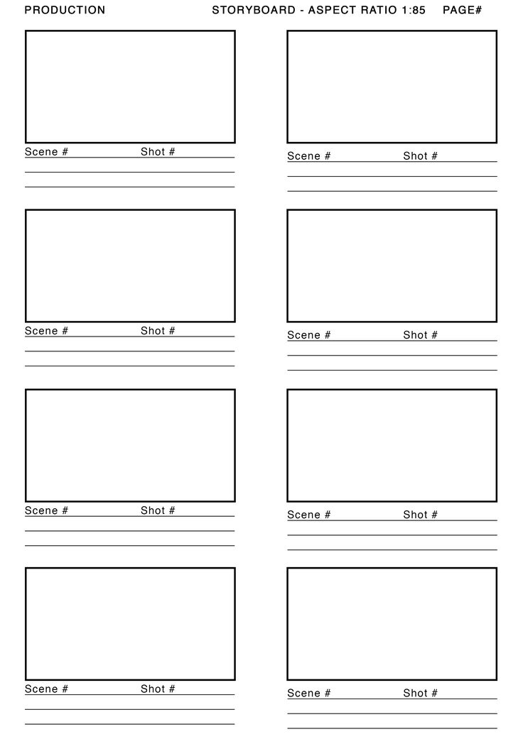 1.85 aspect ratio storyboard template - Google Search