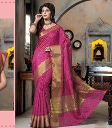Buy Pink woven Silk saree with blouse manipuri-silk-saree online