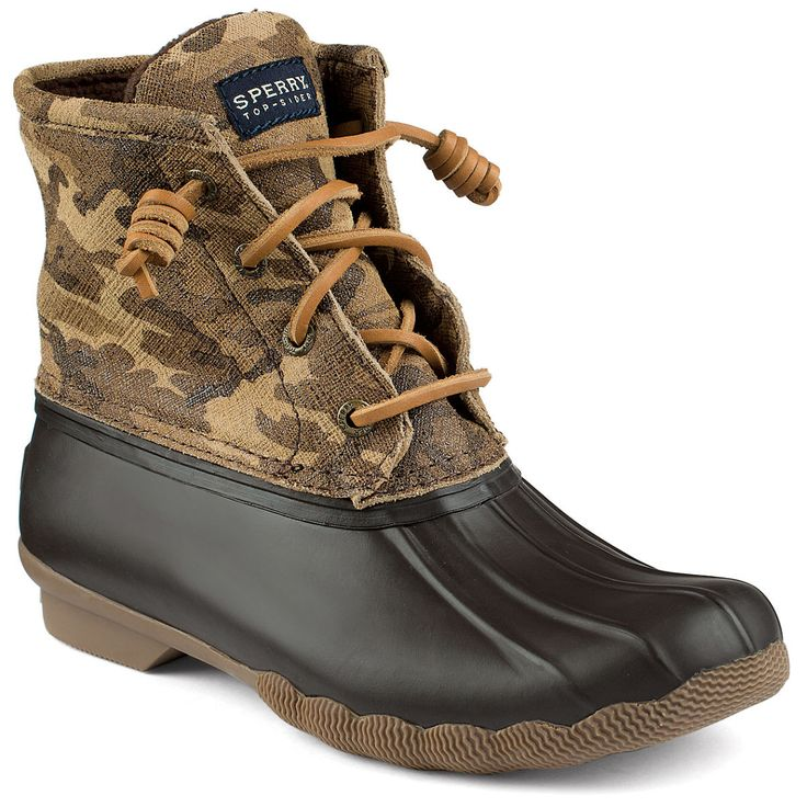 Women's Saltwater Duck Boot in Camo by Sperry Top-Sider