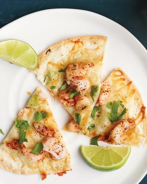 Shrimp quesadillas- Use the Carb Balance tortillas! At only 80 calories &