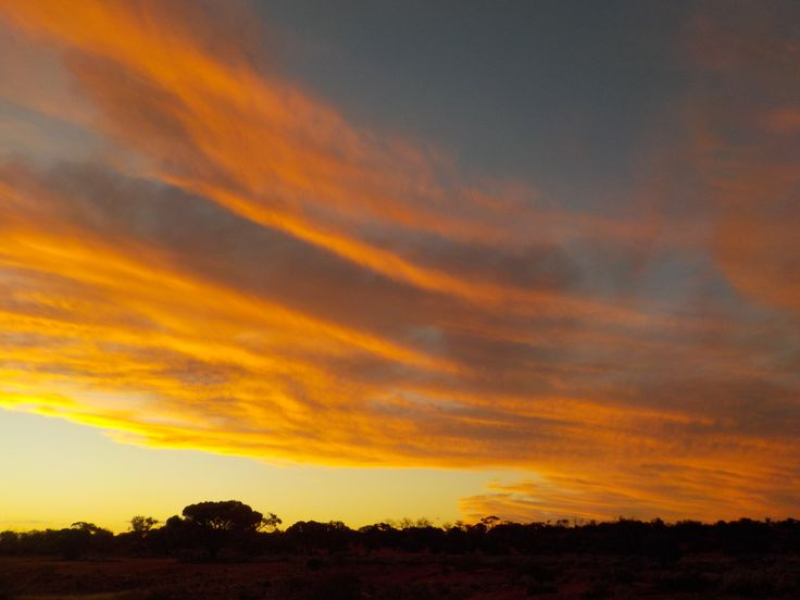 Magnificent outback sunset, Woomera, South Australia