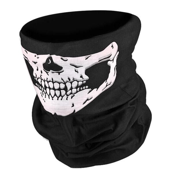 Airsoft Military Tactical Skull Face Mask (scarf, neck warmer, bandana) (motorcycle) paintball