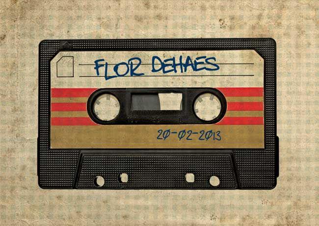 Geboortekaartjes met retro cassette bandje door HierBenIk.be | origineel | retro | vintage | babykaartje