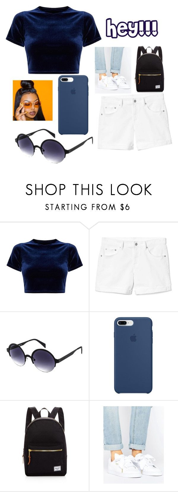 """How u doin😍😍 RTD"" by queensalma ❤ liked on Polyvore featuring Gap, Italia Independent, Apple, Herschel Supply Co. and Puma"