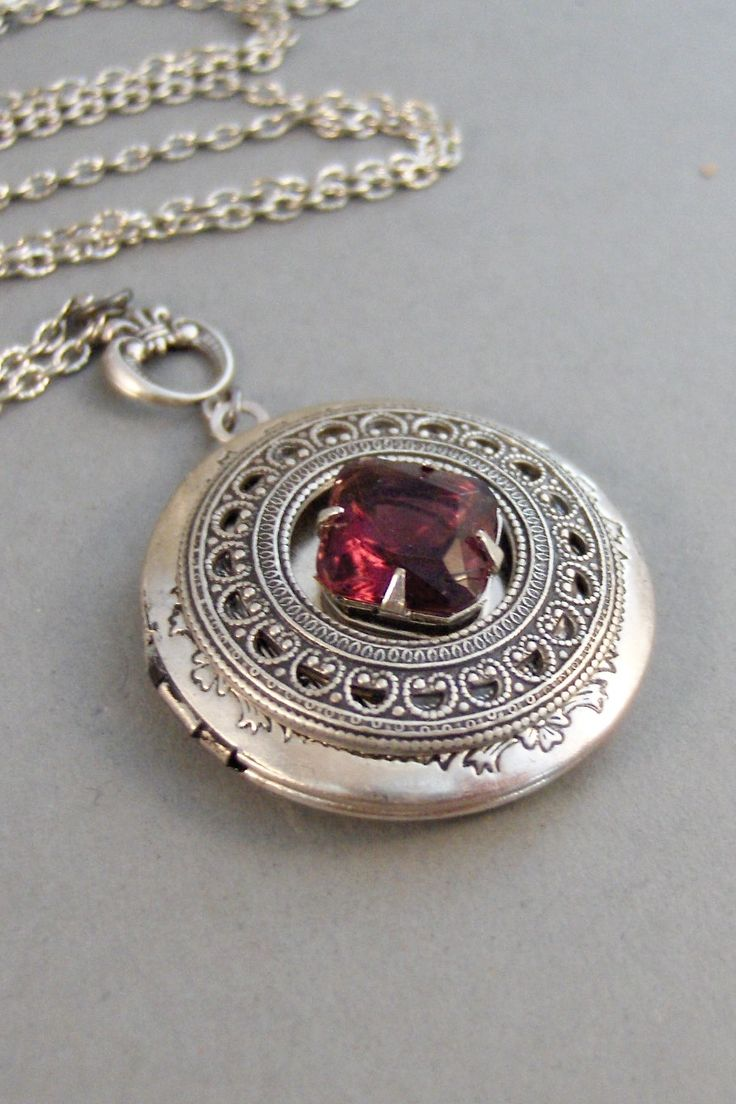 lockets pendant p antique style silver hp sterling locket book beautiful