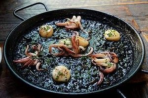 Special: squid ink paella at the Robert Burns Hotel in Collingwood.