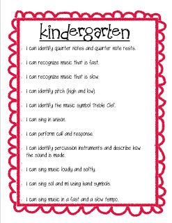 """So La Mi: Elementary Music Class : Instrument Labels and """"I Can"""" Posters"""