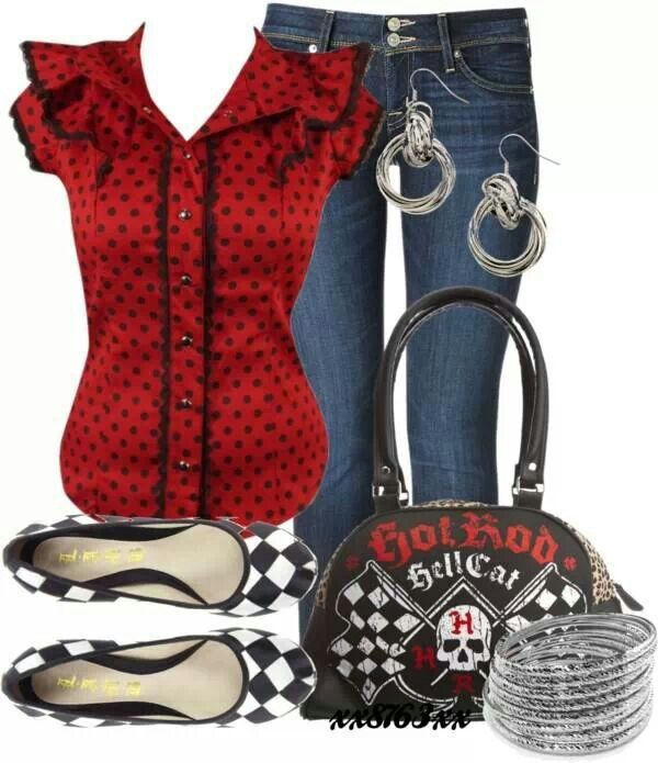 Rockabilly outfit...LOVE LOVE THE TOP!!