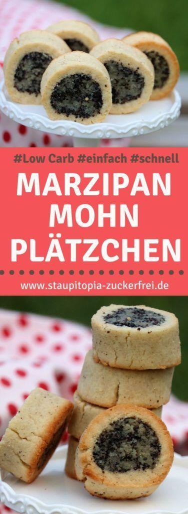 Low Carb Mohnplätzchen mit Marzipan