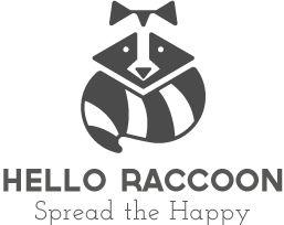 Hello Raccoon #logo #ID #shop