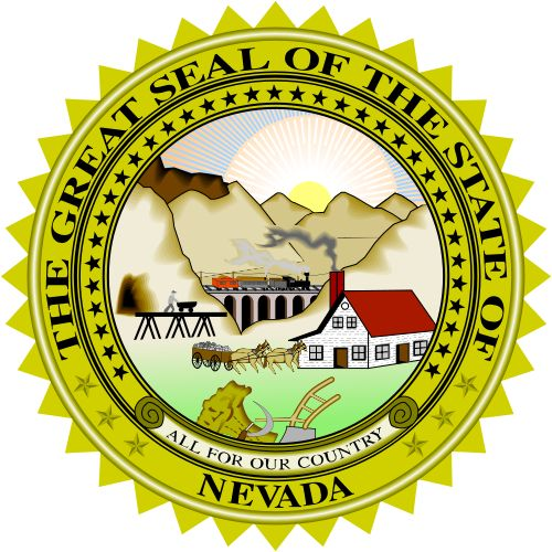 The state seal of Nevada.