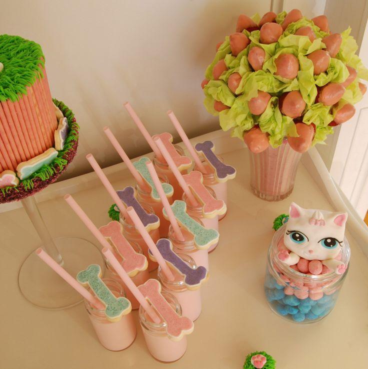 girly sweet table little pet shop www.facebook.com/figurinesanniedemers