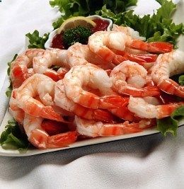 Many seafood items have relatively high cholesterol