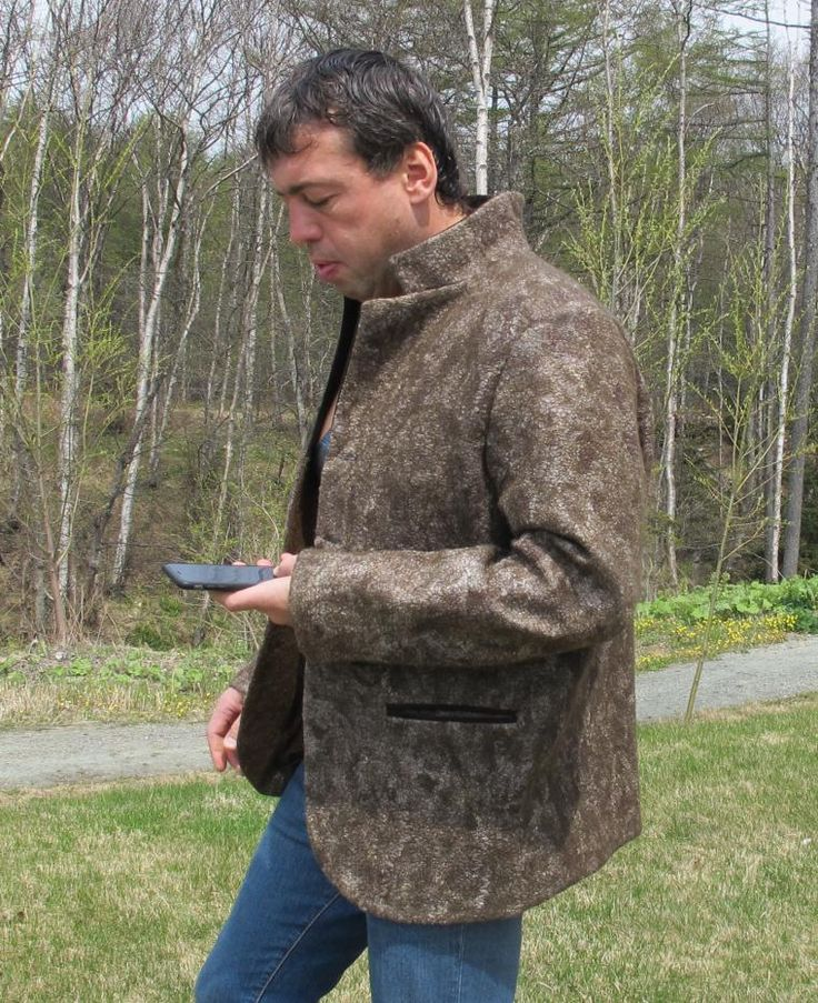 Как я валяла льняной пиджак - Ярмарка Мастеров - ручная работа, handmade