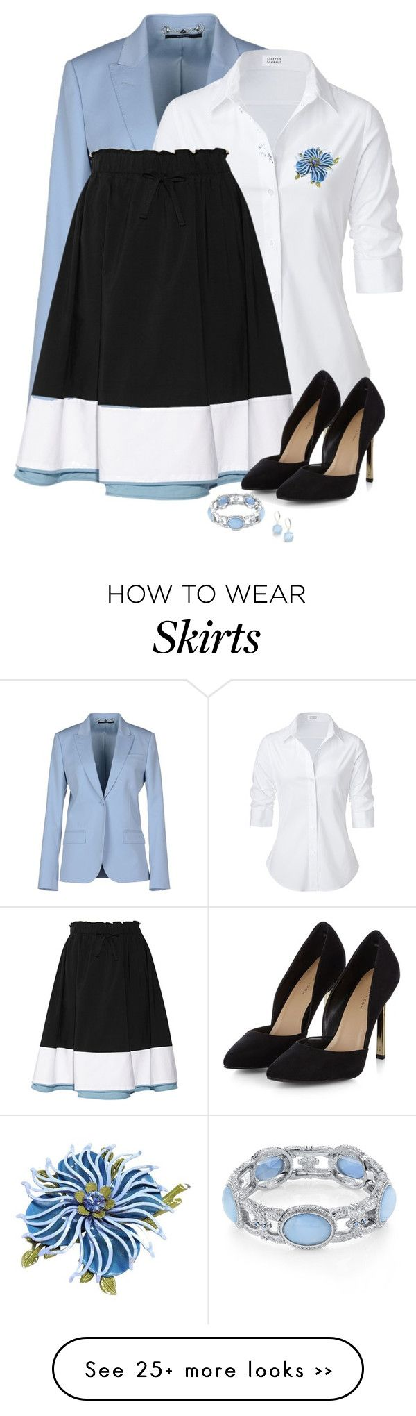 """""""Color Block Skirt"""" by missdoolittle on Polyvore"""