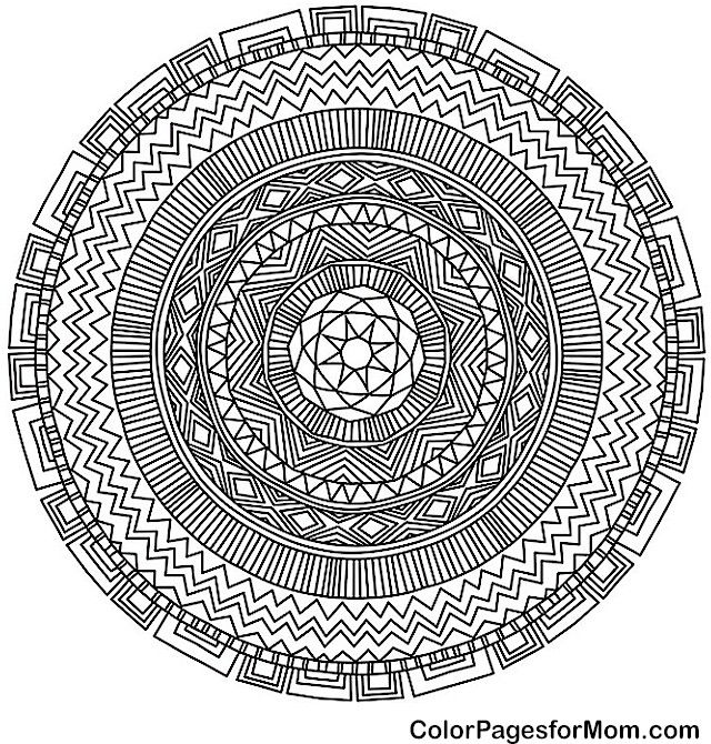 mandala 44 advanced coloring pages