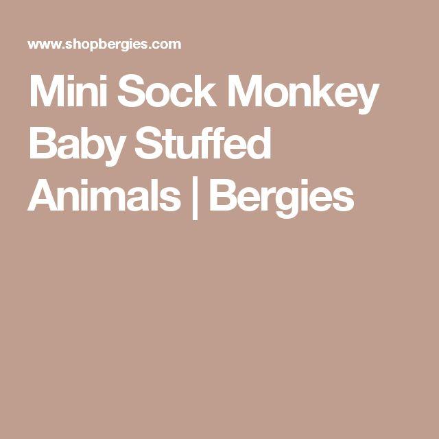Mini Sock Monkey Baby Stuffed Animals | Bergies