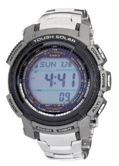 Casio Men's PAW2000T-7CR Pathfinder Digital Multi-Function Titanium Bracelet Watch