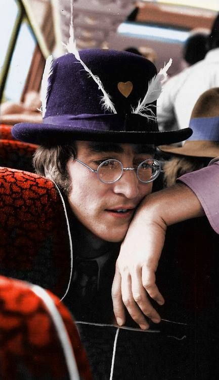 John Lennon must have had more than a hundred funky hats... I sure do miss him.