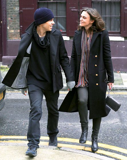 Keira Knightley looked lovingly upon her fiance, rocker James Righton, during a Jan. 14 stroll in London.