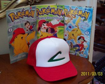 ASH KETCHUM Hat Pokemon Trainer Costume by StellaKlinkerCostume