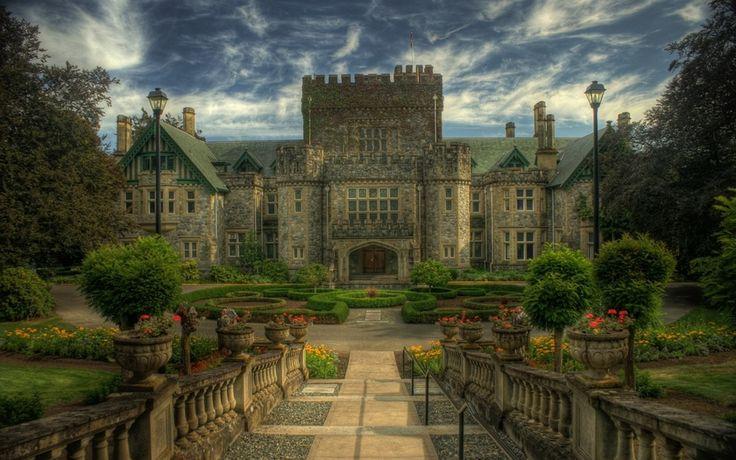 замок Хэтли, остров Ванкувер, Канада, Hatley castle, Canada