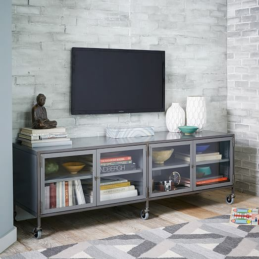 Metal Industrial Media Console - Large | west elm