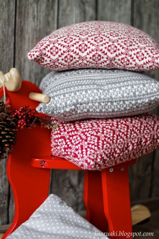 christmas sweaters pillows