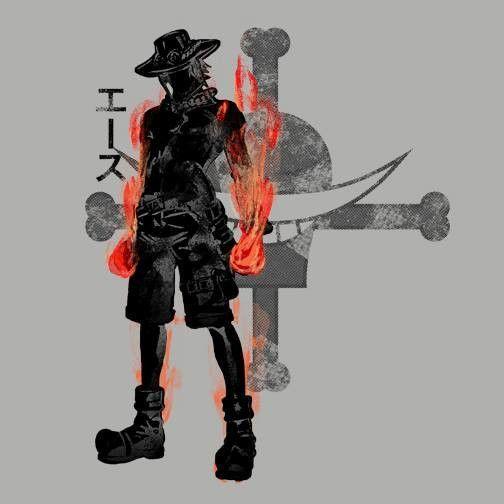 Fire Fist T-Shirt $12.99 One Piece tee at Pop Up Tee!